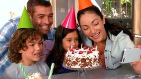 Rodzinny odświętność urodziny wpólnie zbiory