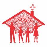 Rodzinny pełny barwiony ilustracji
