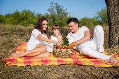 Rodzinny pinkin Zdjęcia Stock