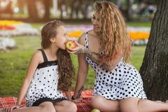Rodzinny pinkin Zdrowy lato styl zdjęcie stock