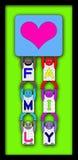 RODZINNY plakat Z 6 ABECADŁOWYMI dziećmi Fotografia Stock