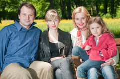 rodzinny plenerowy portret Obrazy Stock