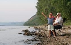 rodzinny połów obrazy royalty free
