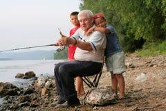 rodzinny połów fotografia stock