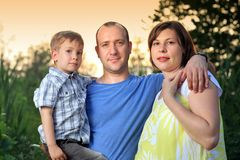 rodzinny portret Fotografia Stock