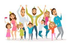 Rodzinny przyjęcie urodzinowe royalty ilustracja