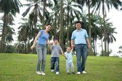 Rodzinny publiczny występ obraz stock