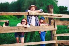 Rodzinny rancho Obrazy Royalty Free