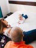 Rodzinny relaksu czas Obraz Royalty Free