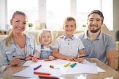 Rodzinny rysunek zdjęcie royalty free
