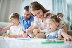 Rodzinny rysunek obrazy stock