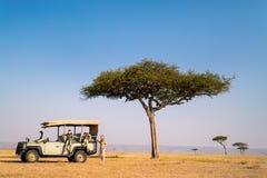 Rodzinny safari Zdjęcia Stock