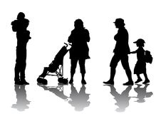 rodzinny spacer ilustracja wektor