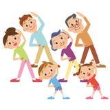 Rodzinny spotkanie, radiów ćwiczenia Obrazy Stock