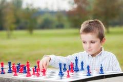Rodzinny szachy Zdjęcie Royalty Free
