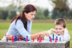 Rodzinny szachy Fotografia Royalty Free