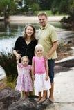 rodzinny szczęśliwy Zdjęcie Royalty Free