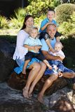 rodzinny szczęśliwy Obraz Stock