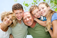 rodzinny szczęśliwy ja target1075_0_ fotografia stock