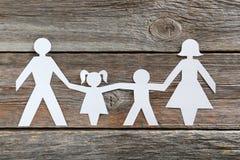 rodzinny szczęśliwy papier obraz royalty free