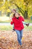 rodzinny szczęśliwy park Obraz Royalty Free