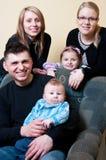 rodzinny szczęśliwy portret Zdjęcie Stock