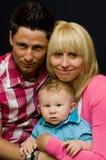 rodzinny szczęśliwy portret Obrazy Stock