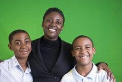 rodzinny szczęśliwy portret Fotografia Stock