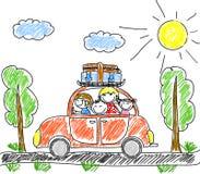 rodzinny szczęśliwy wektor ilustracji