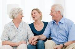 rodzinny szczęśliwy wpólnie Zdjęcie Stock