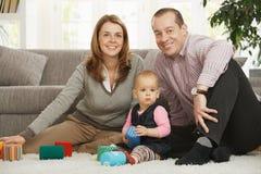 rodzinny szczęśliwy portret fotografia royalty free
