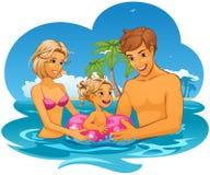 rodzinny wakacje Obraz Stock