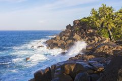 Rodzinny wakacje morzem w nowożytnym luksusowym kurorcie exclusive zdjęcie royalty free