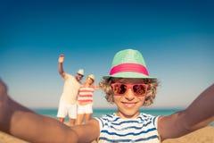 Rodzinny wakacje plaży morze obraz royalty free