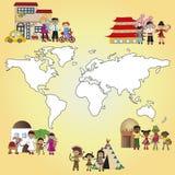 Rodzinny świat Zdjęcie Royalty Free