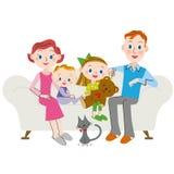 Rodzinny żywy obcokrajowiec Fotografia Stock