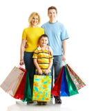 rodzinny zakupy Zdjęcie Royalty Free