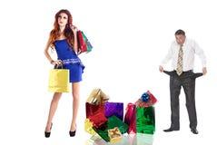 Rodzinny zakupy dla prezentów Obrazy Royalty Free