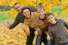 Rodziny i przedstawienia aprobaty Zdjęcia Royalty Free