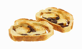 rodzynka chlebowi plasterki Zdjęcia Royalty Free