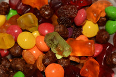 Rodzynka cukierku niedźwiedzie Obrazy Stock