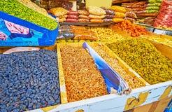 Rodzynki i pikantność w Teheran rynku zdjęcia royalty free