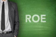 ROE on blackboard Royalty Free Stock Images