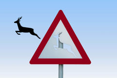 Roe deer sign Stock Image