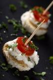 Roe salad appetizer Stock Image