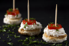 Roe salad appetizer Royalty Free Stock Images