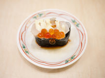 Roe sushi, japanese food Royalty Free Stock Photos