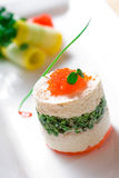Roe toon tofu food. Fresh roe, the perfect combination of Toon and tofu! Chinese and Western food Stock Photography