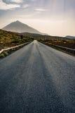 Roead zu Teide-vulcano in Spanien Stockbild