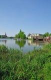 Roebel, district de lac Mecklenburg, Allemagne photo stock